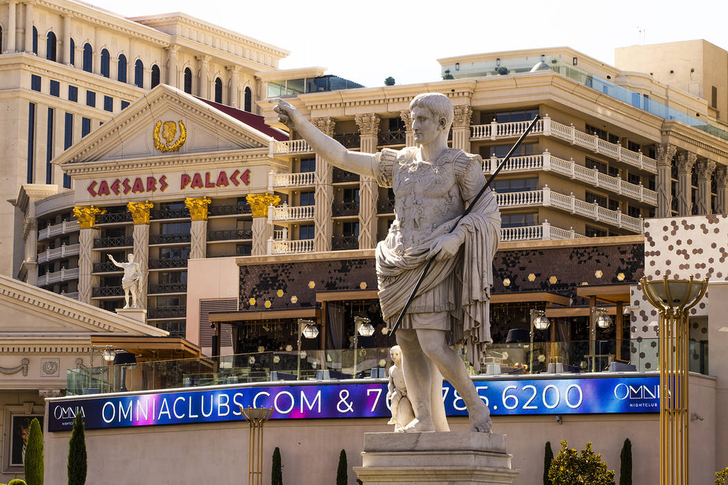 Caesars Palace is seen on Tuesday, Oct. 8, 2019 in Las Vegas. (L.E. Baskow/Las Vegas Review-Jou ...