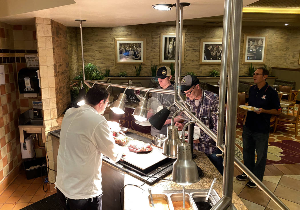 The MGM Grand Buffet Tuesday, March 10, 2020. MGM Resorts International will temporarily close ...