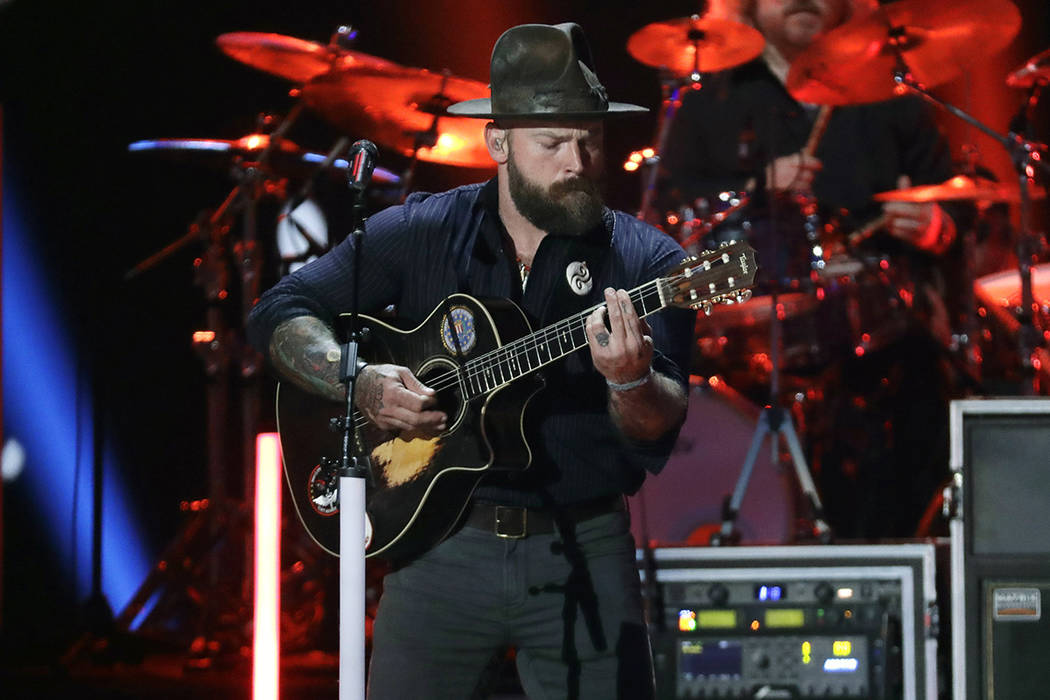 FILE - In this June 5, 2019, file photo, Zac Brown performs at the CMT Music Awards in Nashvill ...