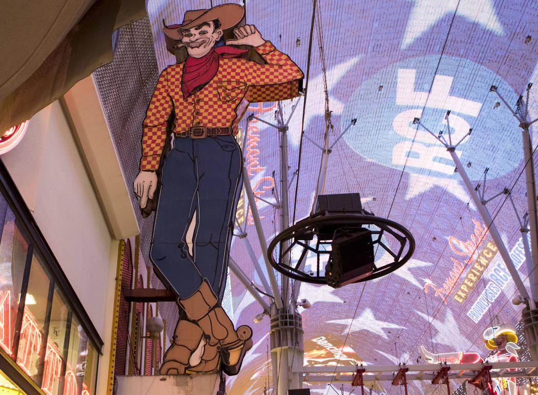 Vegas Vic on the Fremont Street Experience in downtown Las Vegas, on Tuesday, Nov. 29, 2016. Mi ...