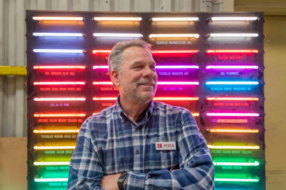 Charlie Rundquist is Yesco's electric service supervisor in Las Vegas. (Elizabeth Page Brumley/ ...