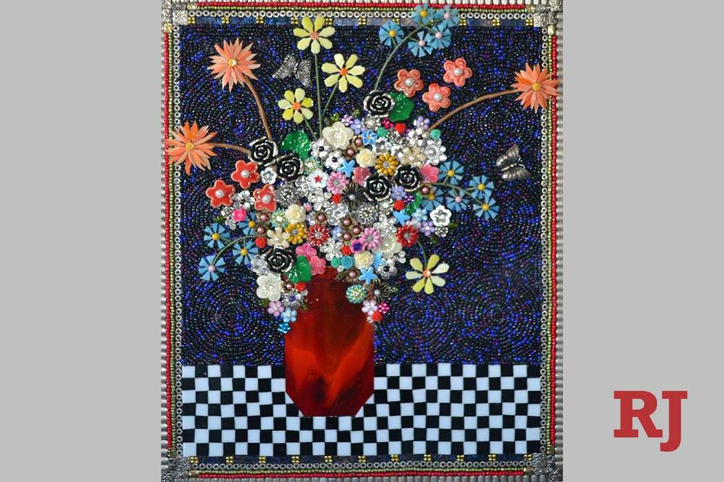 Lisa Fields Clark_Red-Vase_2017_MixedMediaMosaic_20x16