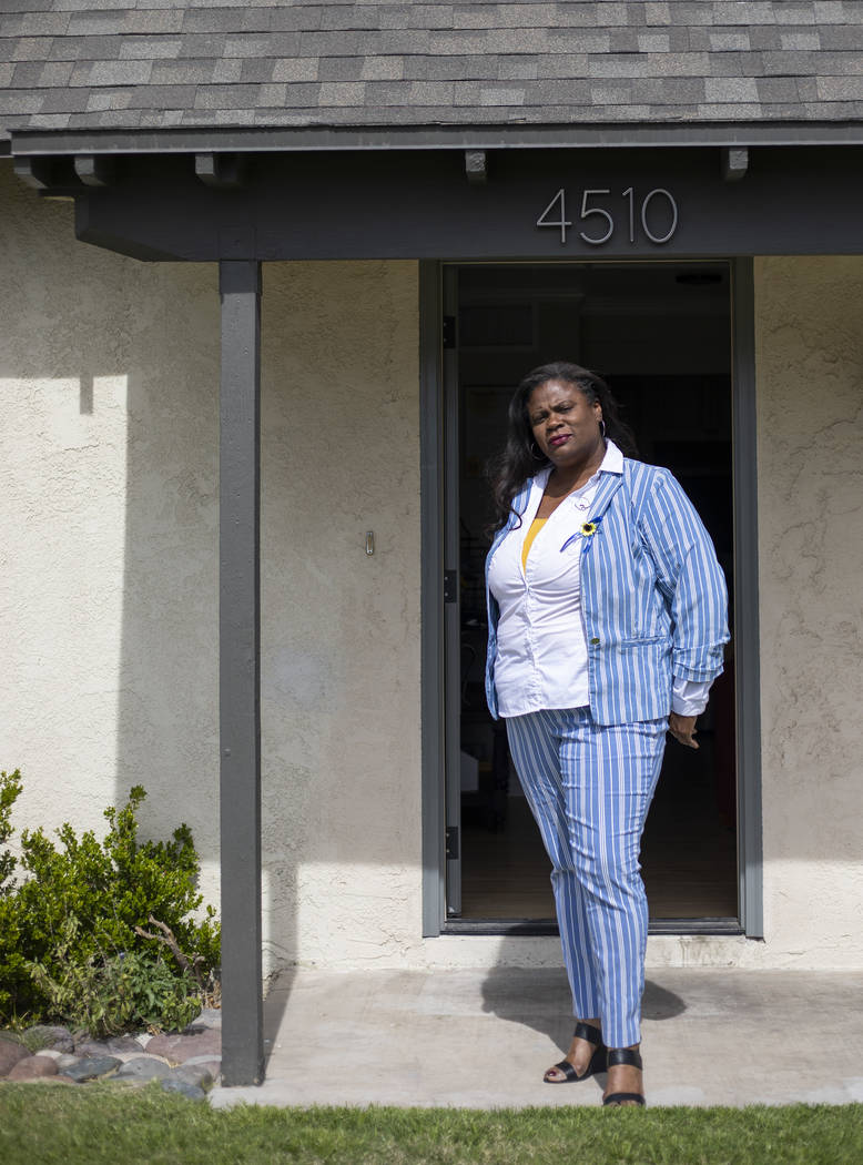 Vera Moore, CEO and founder of True Beginnings, poses for a portrait at a new housing space on ...