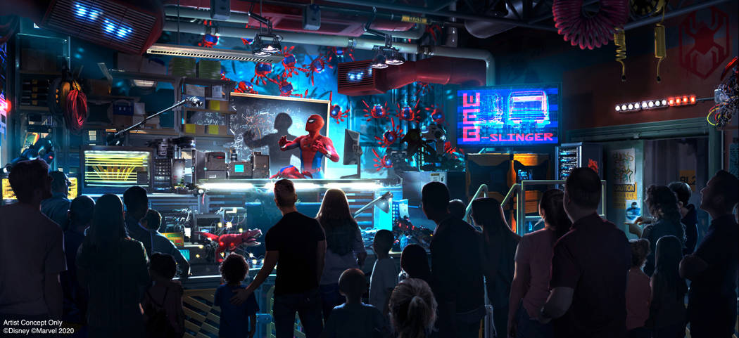 WEB SLINGERS: A Spider-Man Adventure in Avengers Campus inside Disney California Adventure Park ...