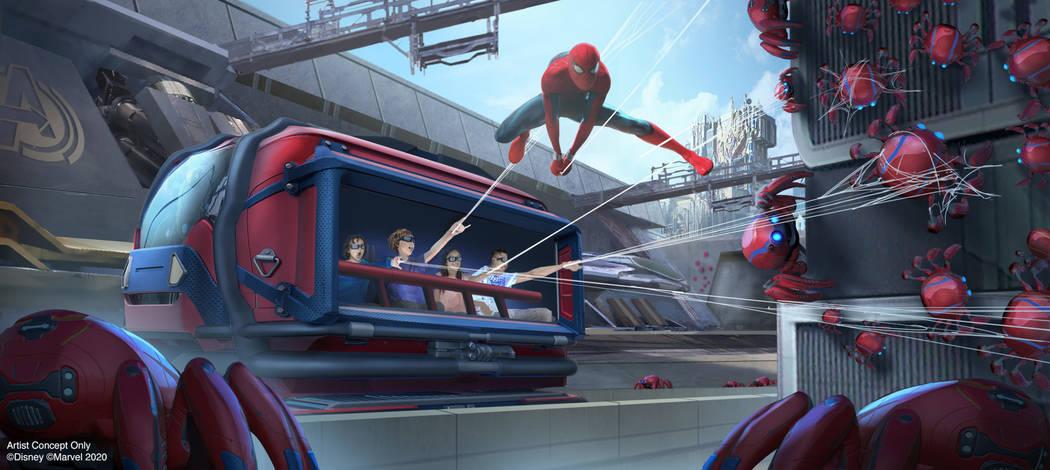 WEB SLINGERS: A Spider-Man Adventure in Avengers Campus at Disney California Adventure Park in ...