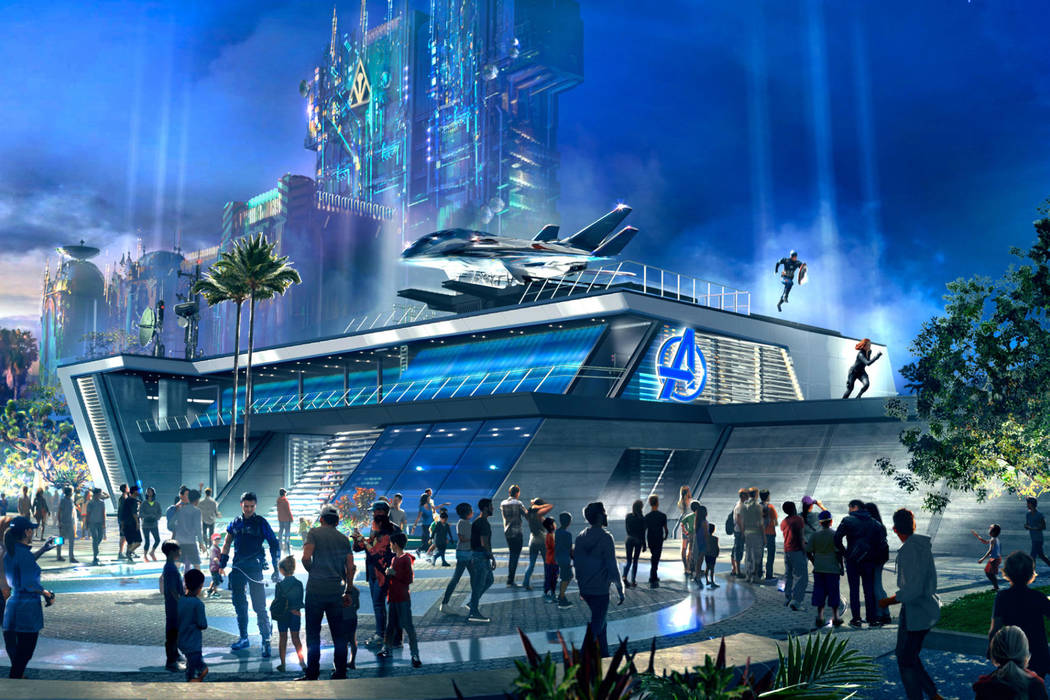 Throughout the day at Avengers Headquarters at Avengers Campus inside Disney California Adventu ...