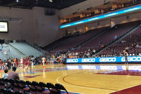 New Mexico State and UT Rio Grande Valley play in the WAC women's quarterfinals at Orleans Aren ...
