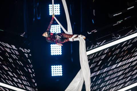 """Silvia Dopazo is an aerial acrobat is shown in the Cirque du Soleil show """"Axel."""" (Cirque Du Soleil)"""