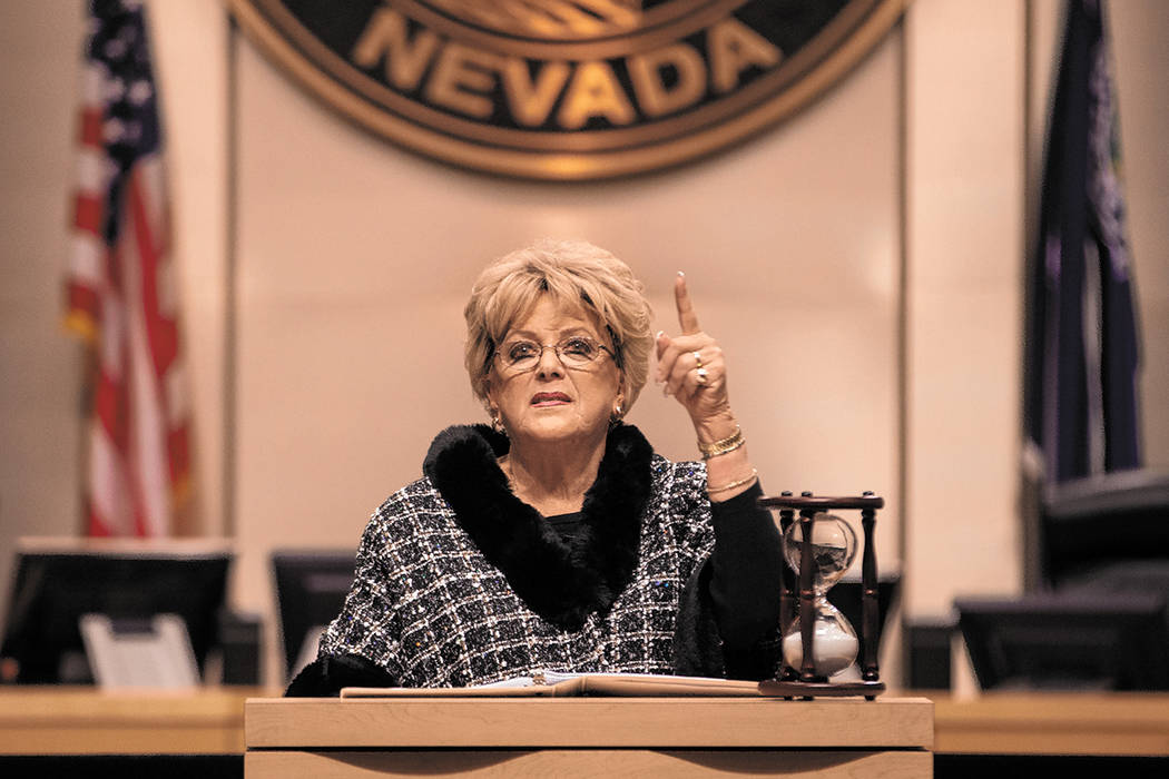 Las Vegas Mayor Carolyn Goodman delivers the annual State of the City address on Thursday, Jan. ...