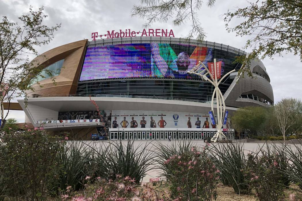 T-Mobile Arena pictured on March 12, 2020, in Las Vegas. (Bizuayehu Tesfaye/Las Vegas Review-Jo ...
