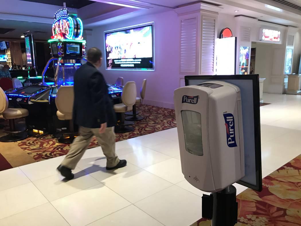 Tropicana hotel-casino on March 12, 2020, in Las Vegas. (Ellen Schmidt/Las Vegas Review-Journal)