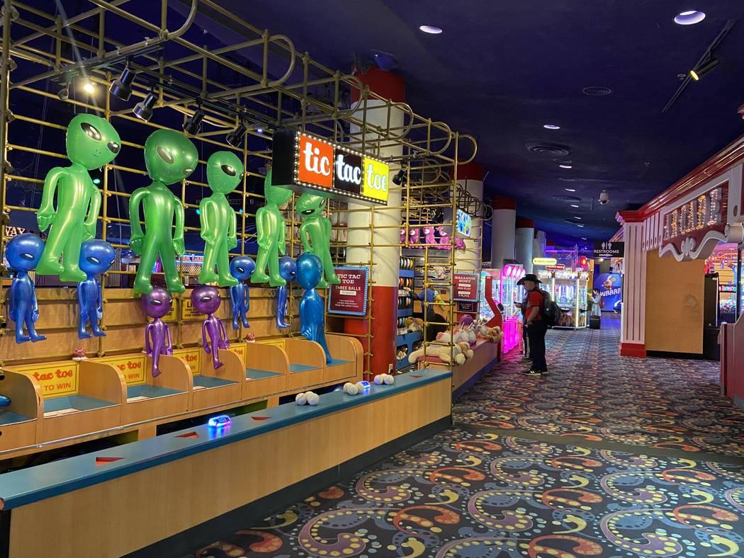 The arcade at Circus Circus pictured on March 12, 2020, in Las Vegas. (Rachel Aston/Las Vegas R ...