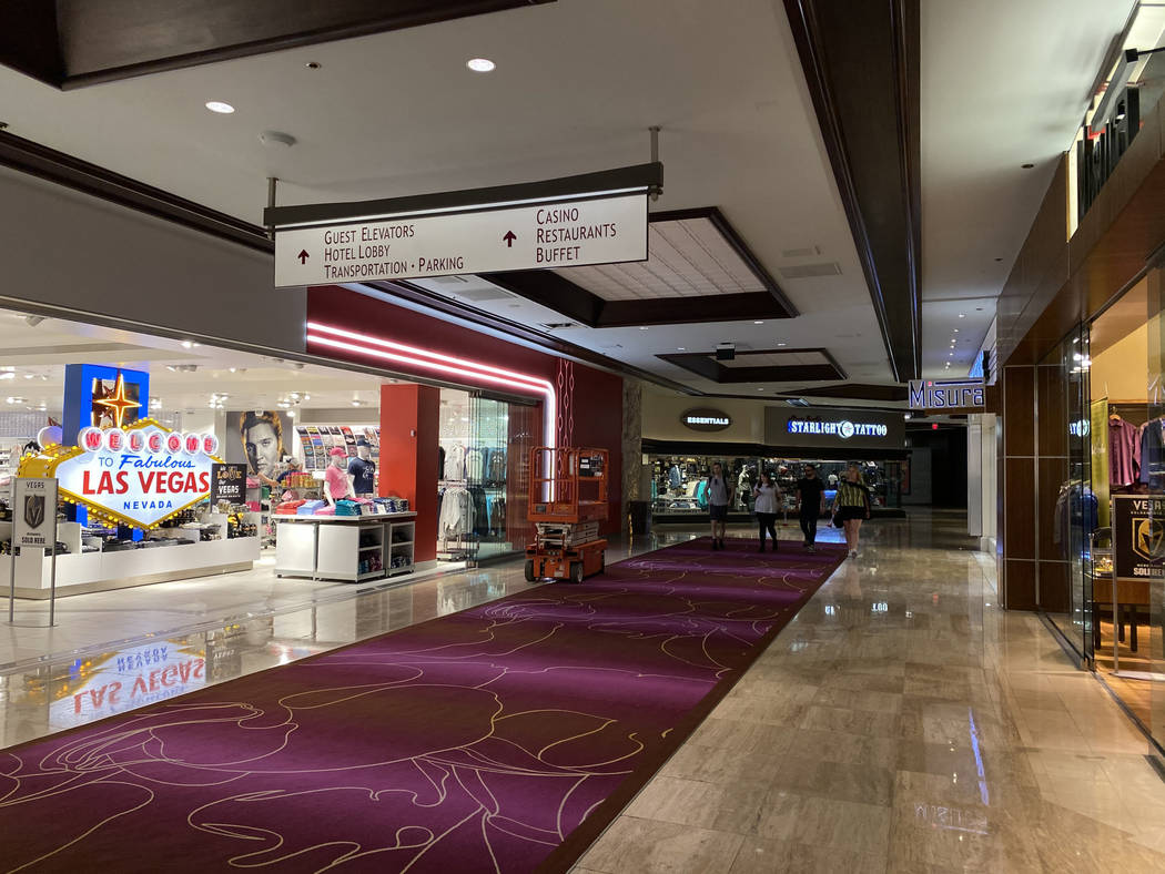 A retail area at The Mirage on the Strip in Las Vegas Thursday, March 12, 2020. (K.M. Cannon/La ...