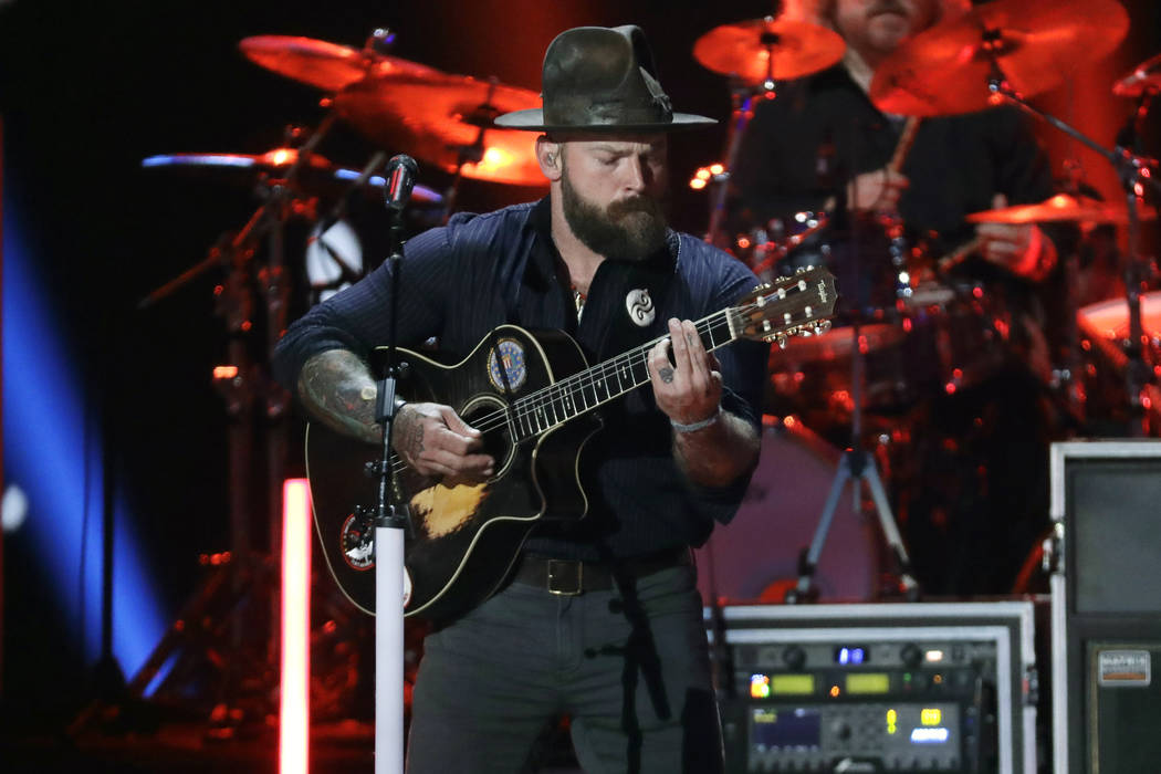 Zac Brown performs at the CMT Music Awards in Nashville, Tenn., June 5, 2019. (Mark Humphrey/ ...