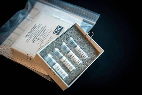 This photo shows CDC's laboratory test kit for the new coronavirus. (CDC via AP, File)