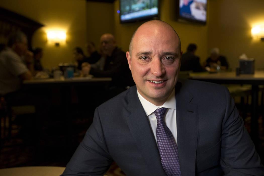 Matt Maddox, CEO of Wynn Resorts, is seen in 2018 in Las Vegas. (Las Vegas Review-Journal)