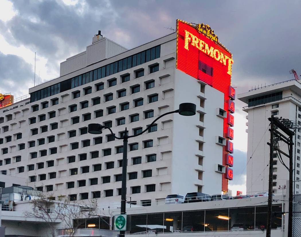 Fremont hotel-casino operated by Boyd Gaming Corp. is seen on Saturday, March 14, 2020, in Las ...