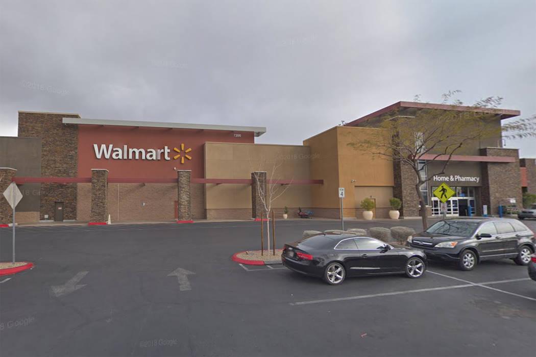 Walmart at 7200 Arroyo Crossing Way in Las Vegas is seen in a screenshot. (Google)