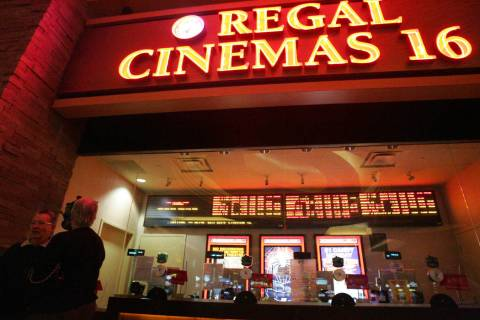 Regal Cinemas is closing all its theaters in the Las Vegas Valley, effective Tuesday, March 17, ...