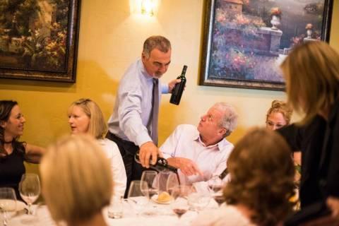 Gino Ferraro in his restaurant. (Ferraro's Italian Restaurant & Wine Bar)