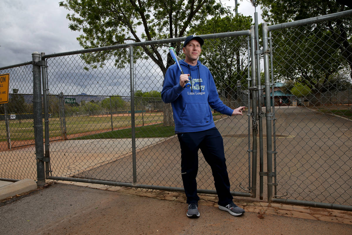 Nevada Little League District 2 Assistant District Administrator/Treasurer Marc Grisar at locke ...