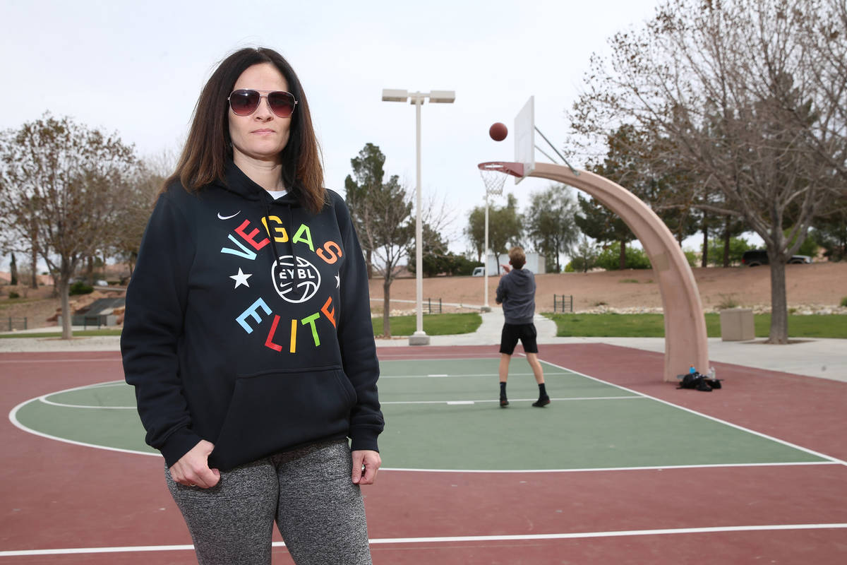 Valerie Brown, communications director and event coordinator for the Vegas Elite youth basketba ...