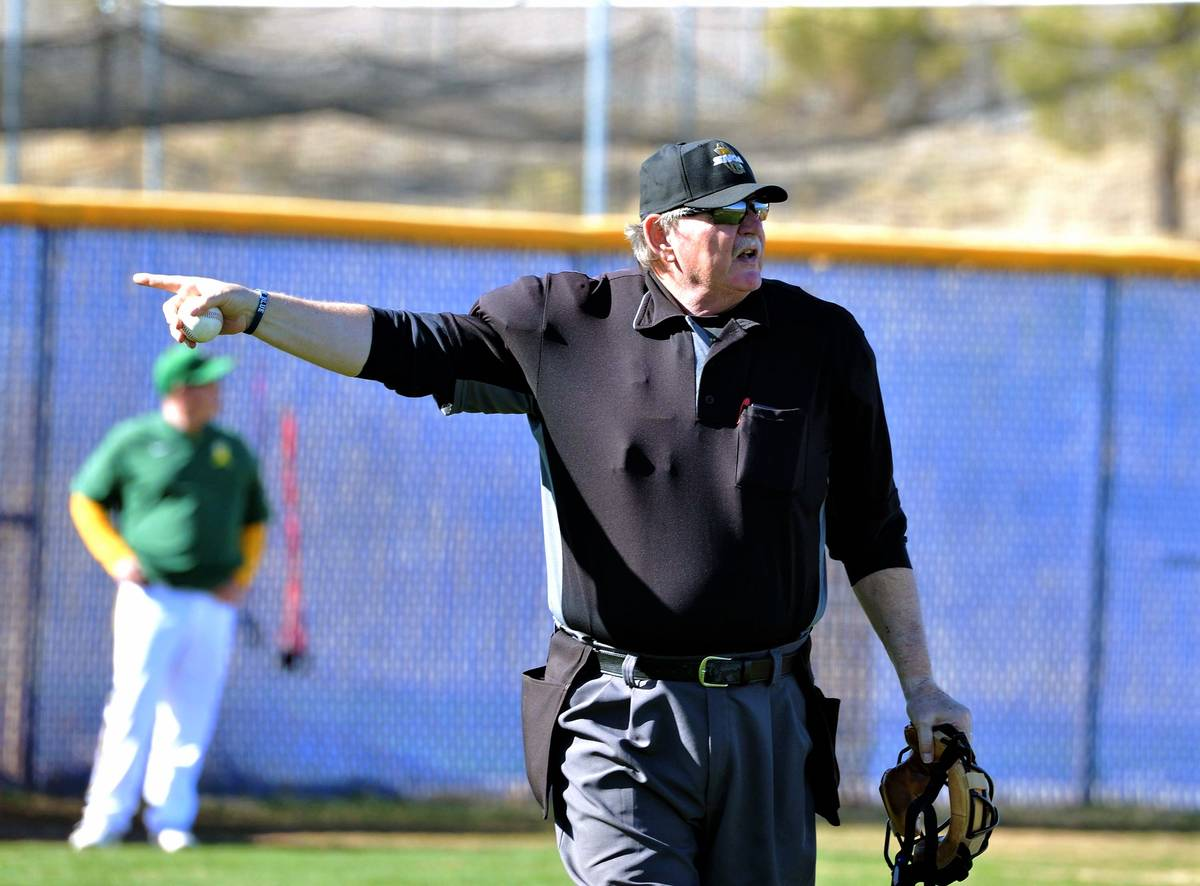 Jim Bullock has umpired baseball for 20 years in Southern Nevada, but now sits idle as all game ...