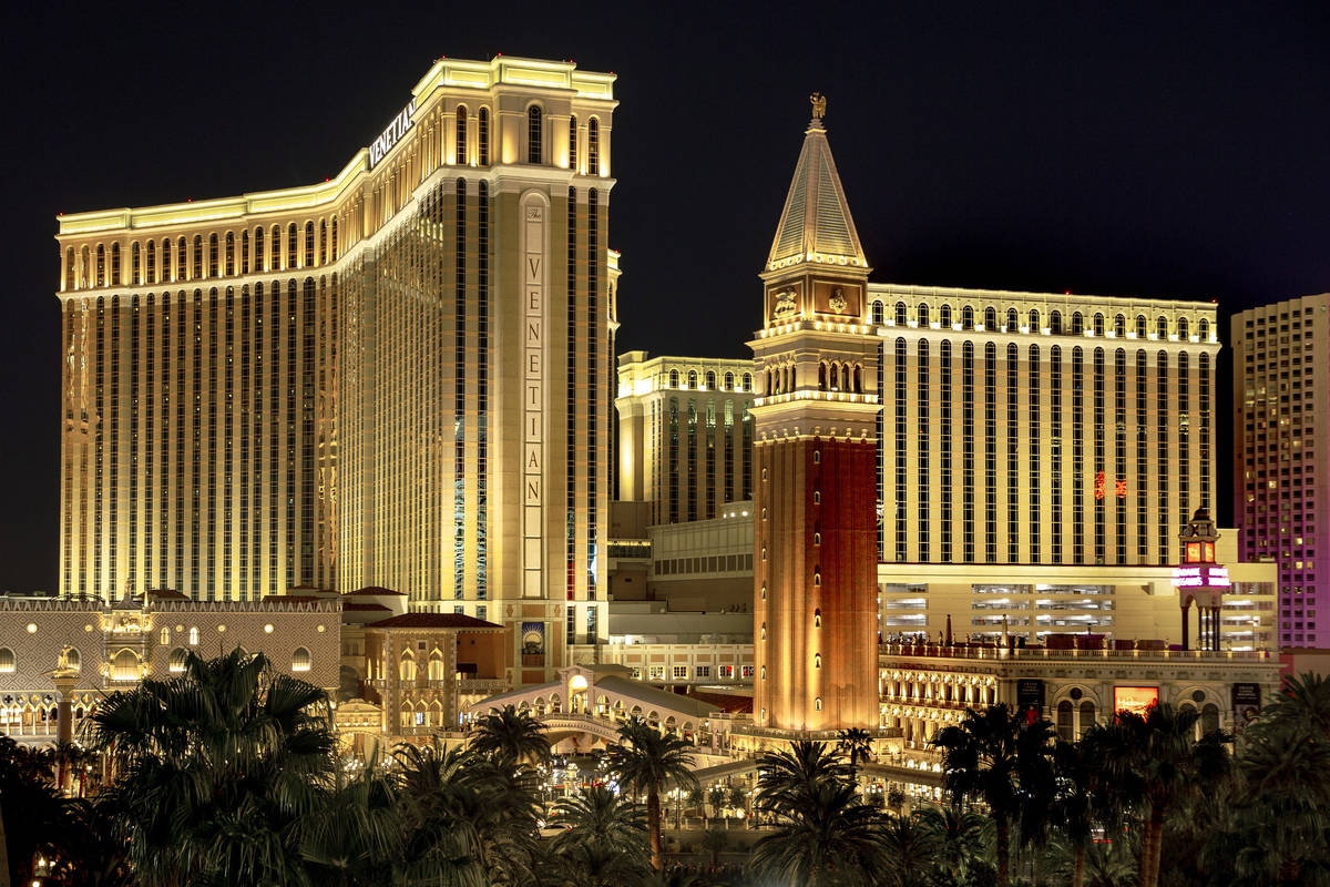 The Venetian pictured in this 2019 file photo. (L.E. Baskow/Las Vegas Review-Journal) @Left_Eye ...