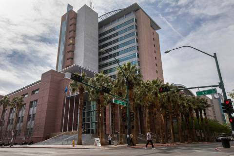 The Regional Justice Center as seen on Friday, March 6, 2020, in Las Vegas. (Ellen Schmidt/Las ...
