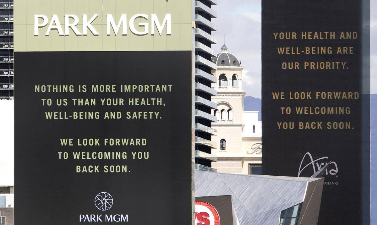Three MGM Resorts International properties on the Strip, New York New York, Park MGM and Aria, ...