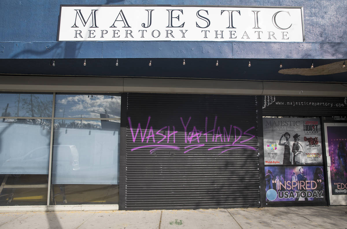 The Majestic Repertory Theatre is closed due to corona virus concerns in Las Vegas, Tuesday, Ma ...
