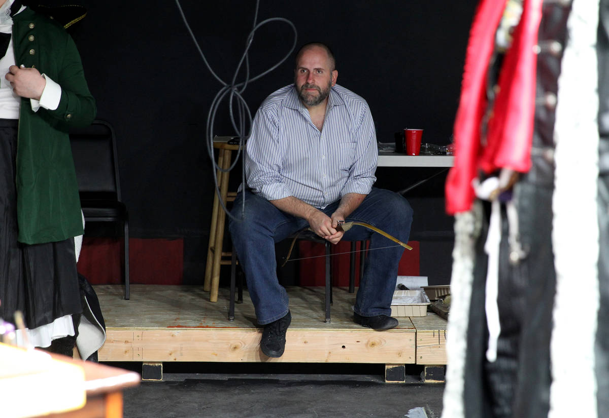 """Majestic Repertory Theatre's artistic director Troy Heard during a rehearsal for """"Marie An ..."""