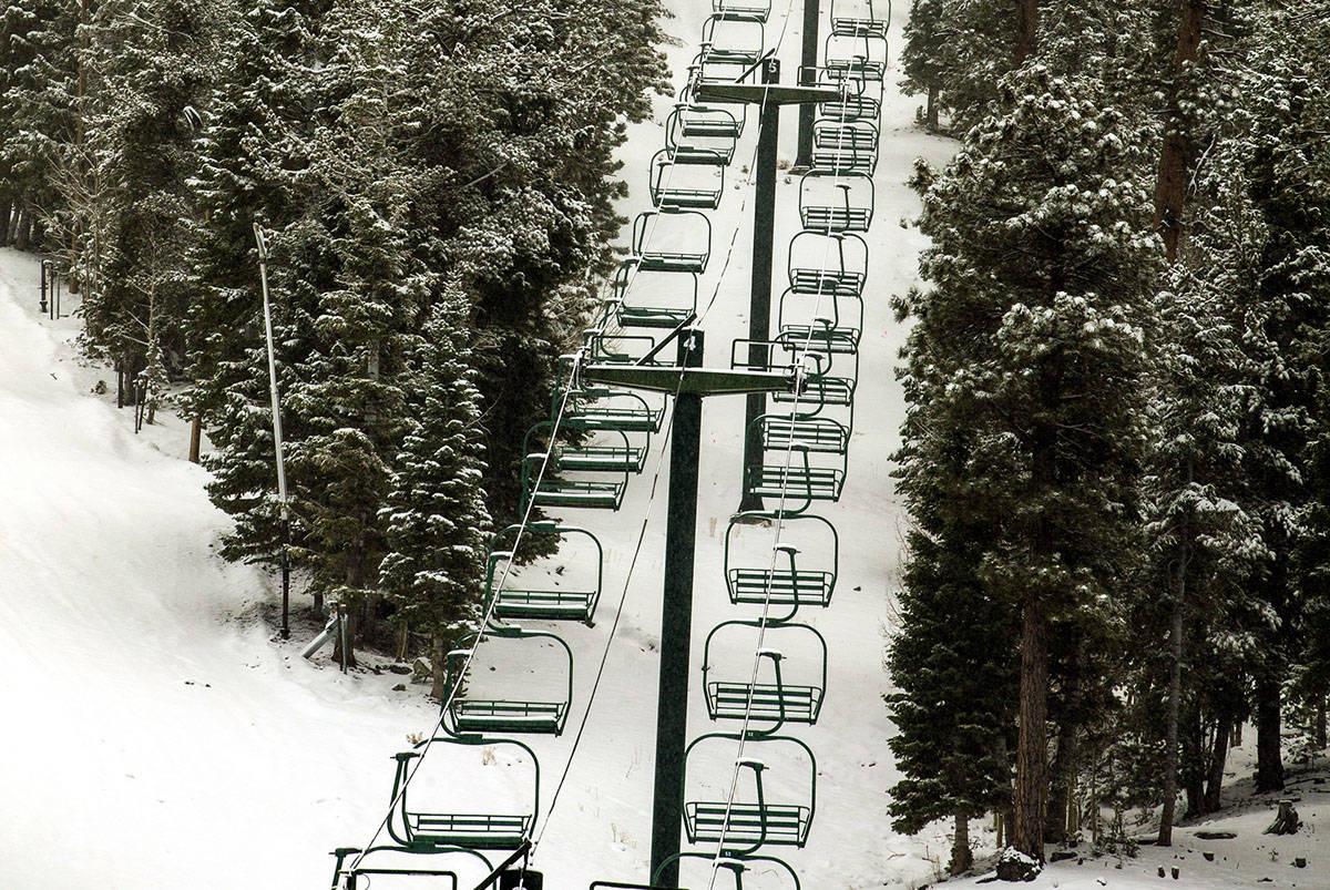 The Lee Canyon ski resort at Mt. Charleston (L.E. Baskow/Las Vegas Review-Journal)