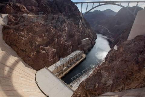 Hoover Dam on Friday, Dec. 13, 2019. (Ellen Schmidt/Las Vegas Review-Journal) @ellenkschmidt_