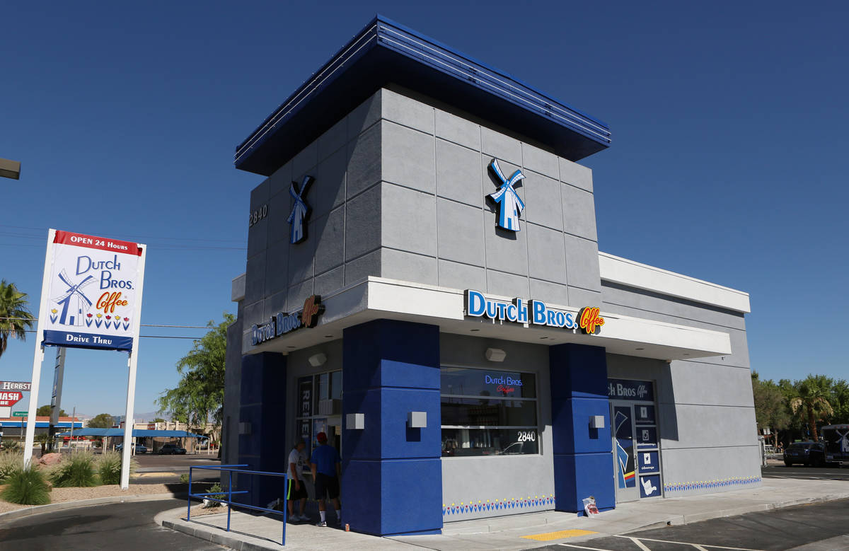 Dutch Bros. Coffee will open a new location in Las Vegas on Friday. (Bizuayehu Tesfaye/Las Vega ...