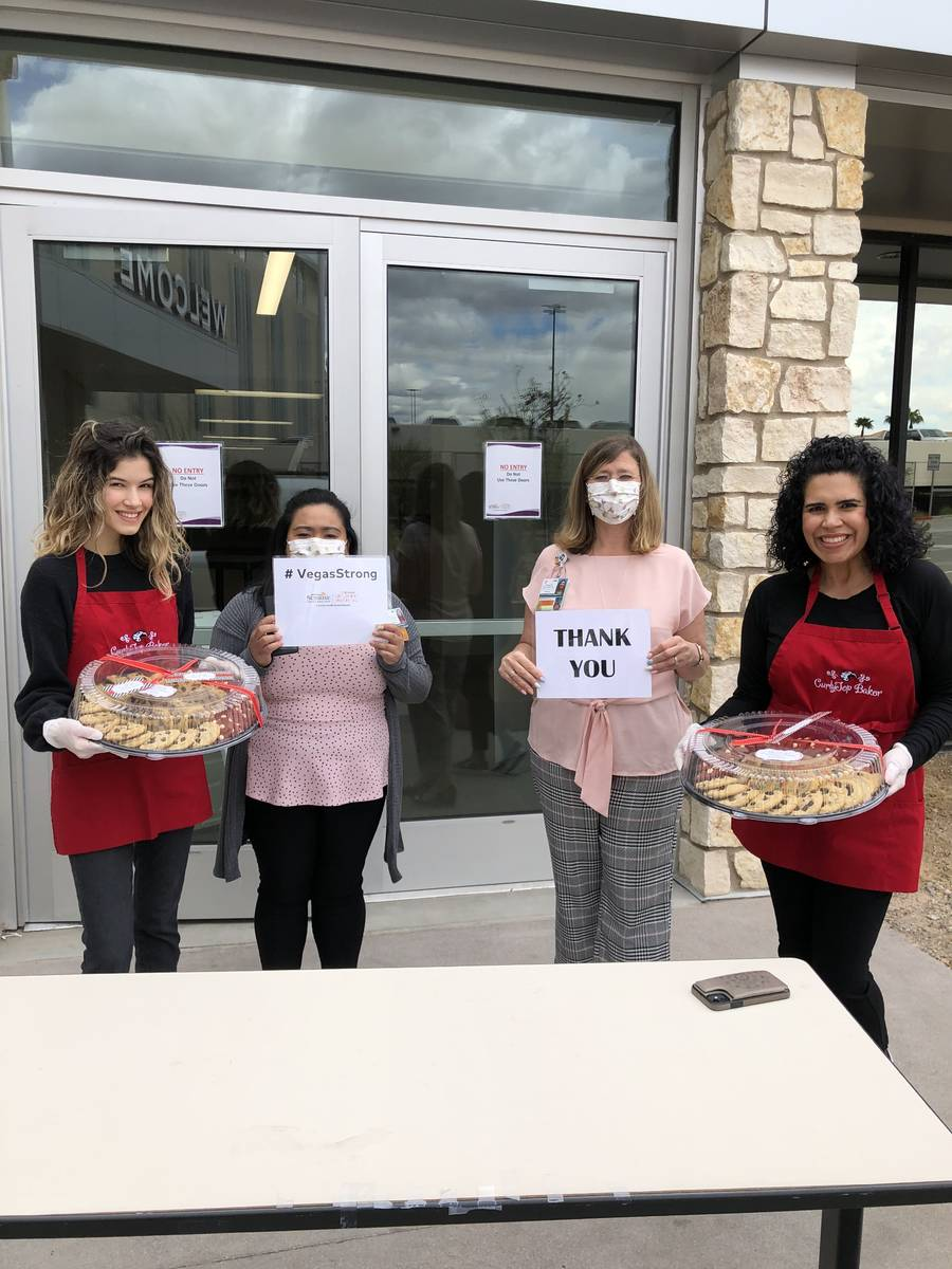 CurlyTop Baker gourmet cookie company recently delivered trays of cookies to first responders a ...