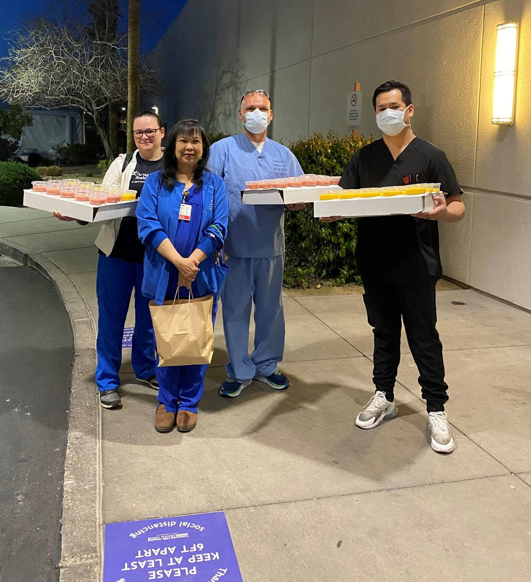 Jamba Juices in Las Vegas delivered smoothies to doctors and nurses at Centennial Hills Hospita ...
