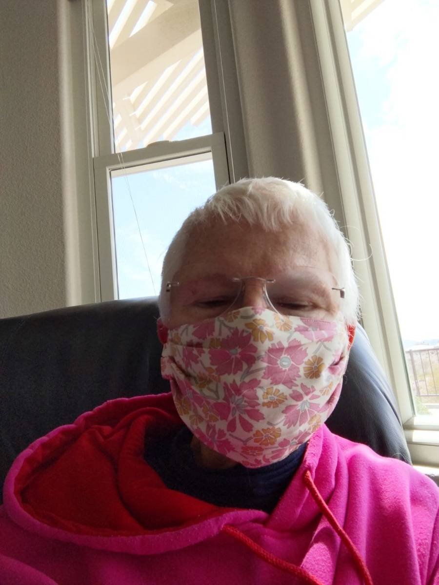 Lynn Noonan makes reusable face masks for nurse, others. Lynn Noonan