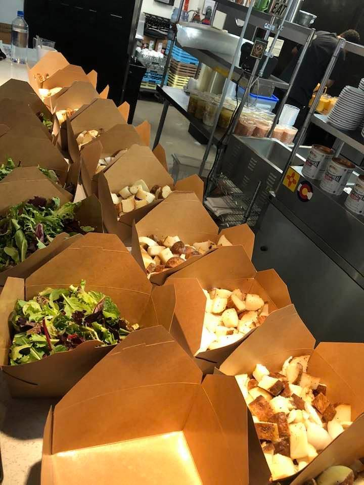 Natalie Young's downtown restaurant EAT is sharing its surplus food with those in need, free of ...