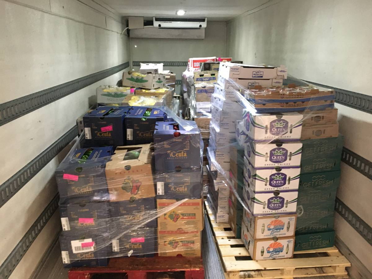 Station Casinos recently donated vegetables, fruit, eggs and other items to local charities. (S ...
