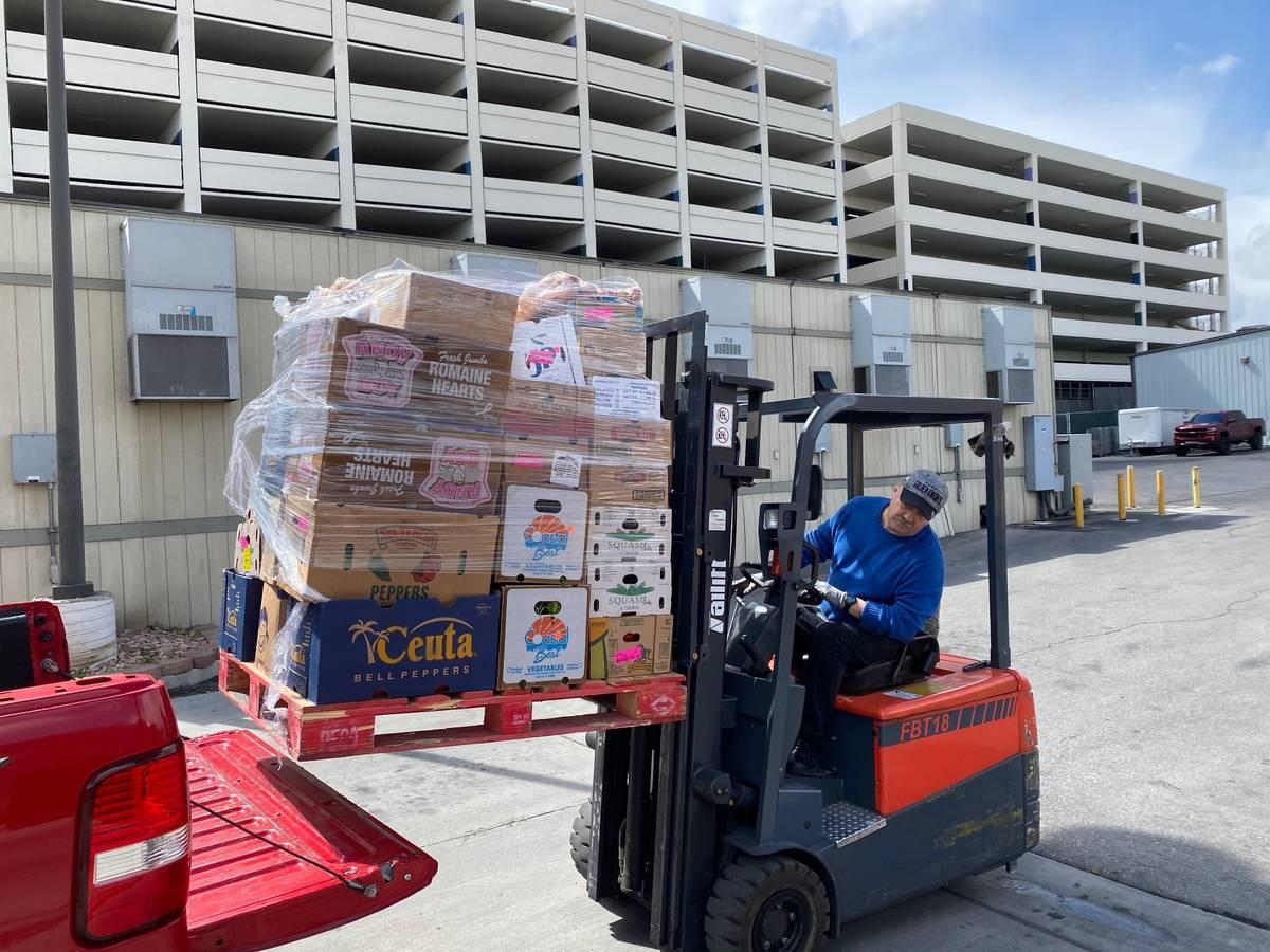 Golden Entertainment's casino donated their perishable food to Casa de Luz in Downtown Las Ve ...
