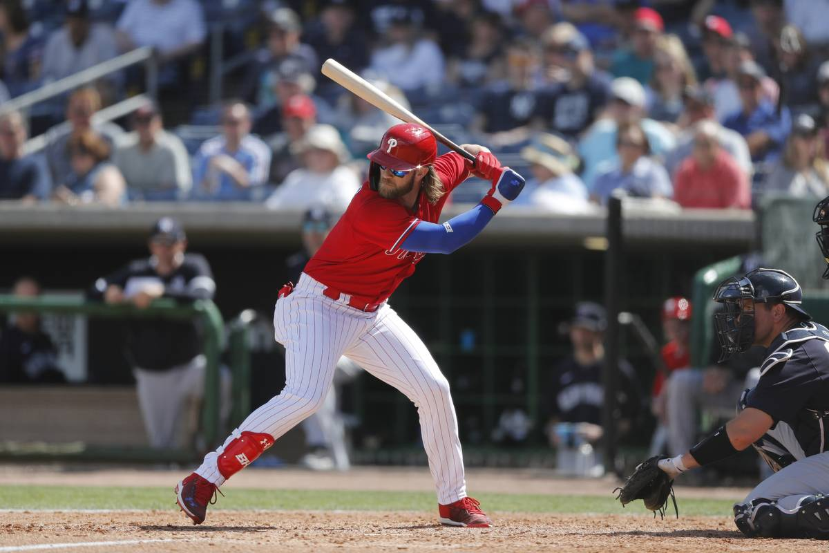 Philadelphia Phillies right fielder Bryce Harper and his wife are donating $500,000 for hunger ...