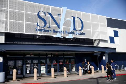 Southern Nevada Health District in Las Vegas Thursday, March 5, 2020. (K.M. Cannon/Las Vegas Re ...