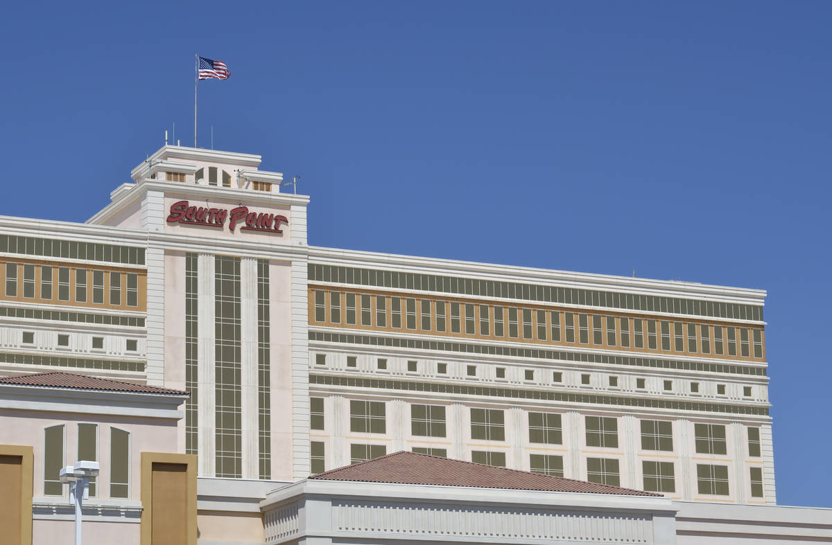 The exterior of the South Point hotel-casino is shown at 9777 S. Las Vegas Blvd. in Las Vegas o ...