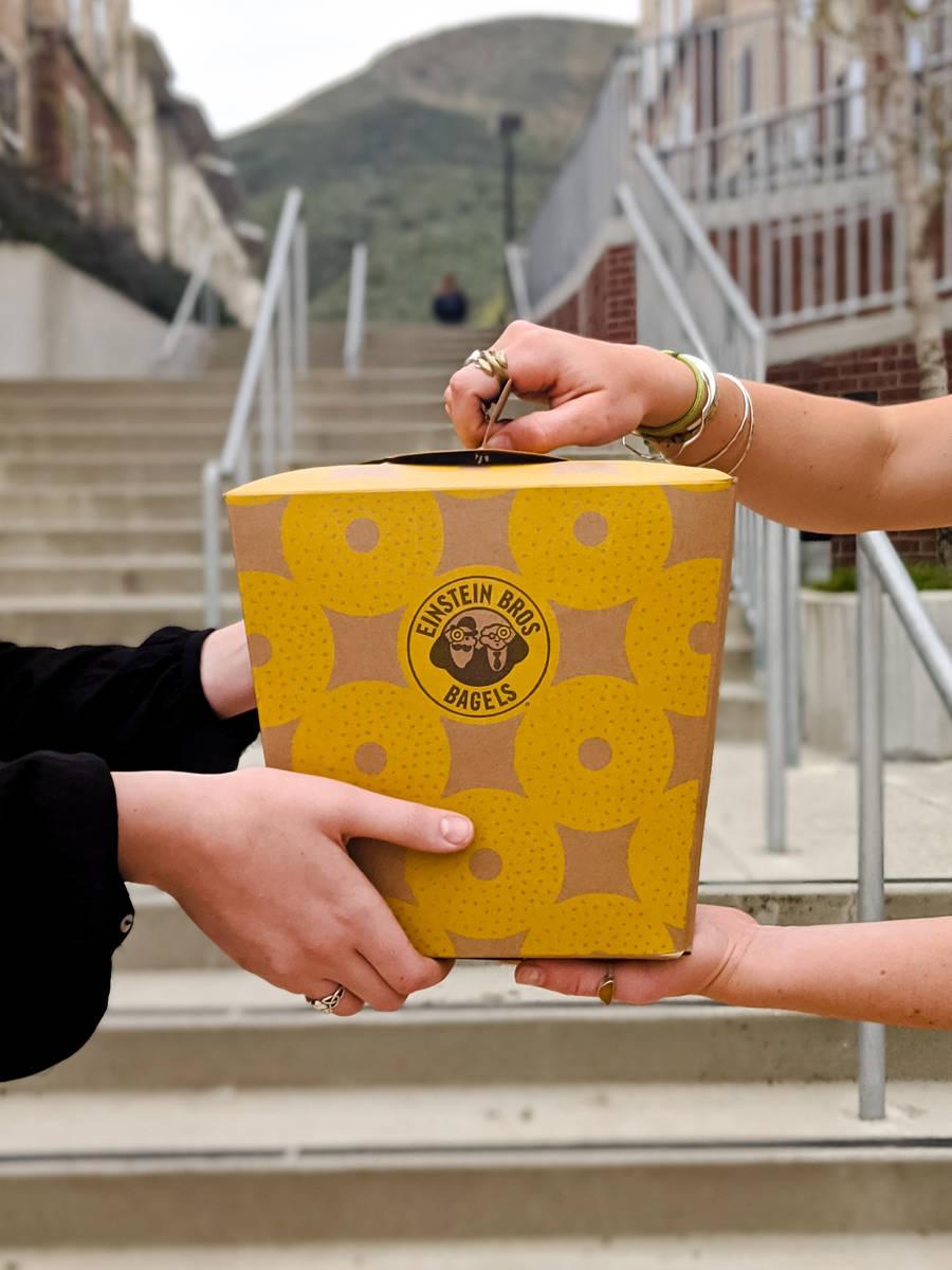 Baker's Dozen Box of bagels. (Einstein Bros. Bagels)