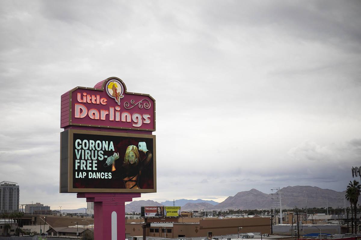 "Little Darlings strip club advertises ""coronavirus-free lap dances"" on Thursday, Marc ..."