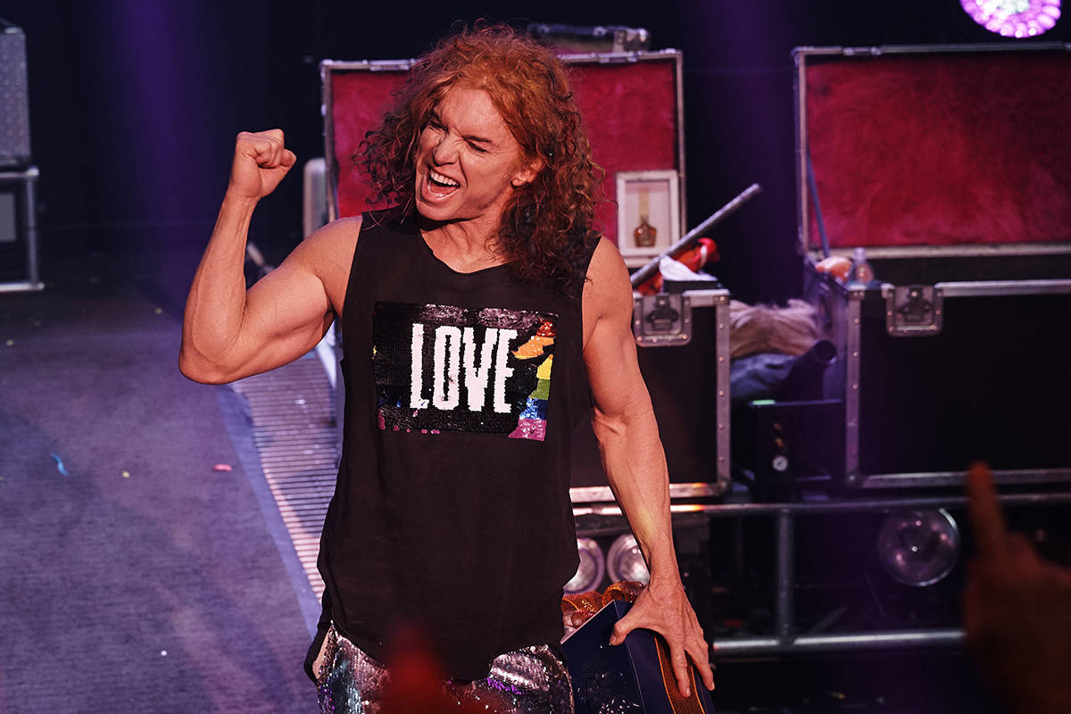 Carrot Top celebrates the news that his contract has been extended by five years, through 2025, ...