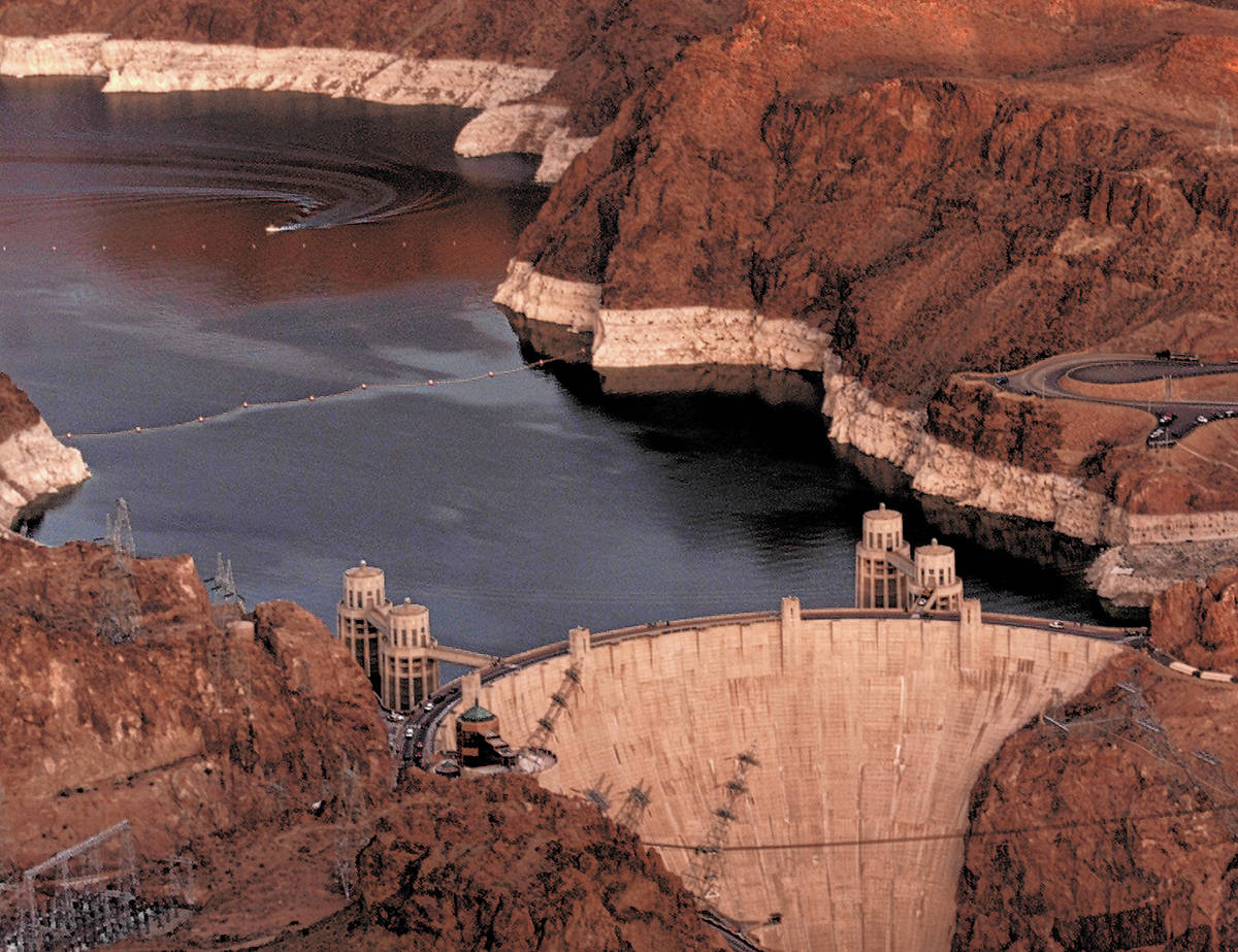 The water level at Lake Mead in 2002. That year was the driest year ever recorded on the Colora ...