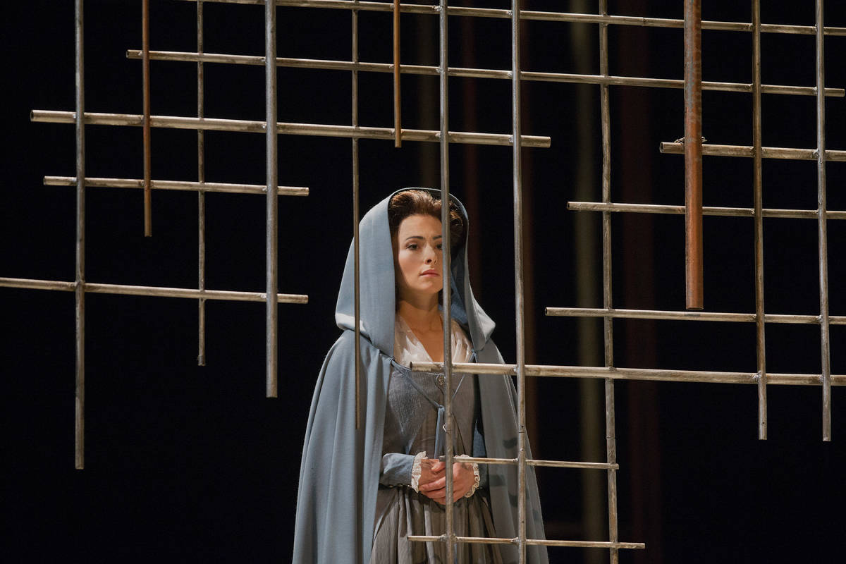 "Isabel Leonard as Blanche de la Force in the Metropolitan Opera's performance of Poulenc's ""Dia ..."