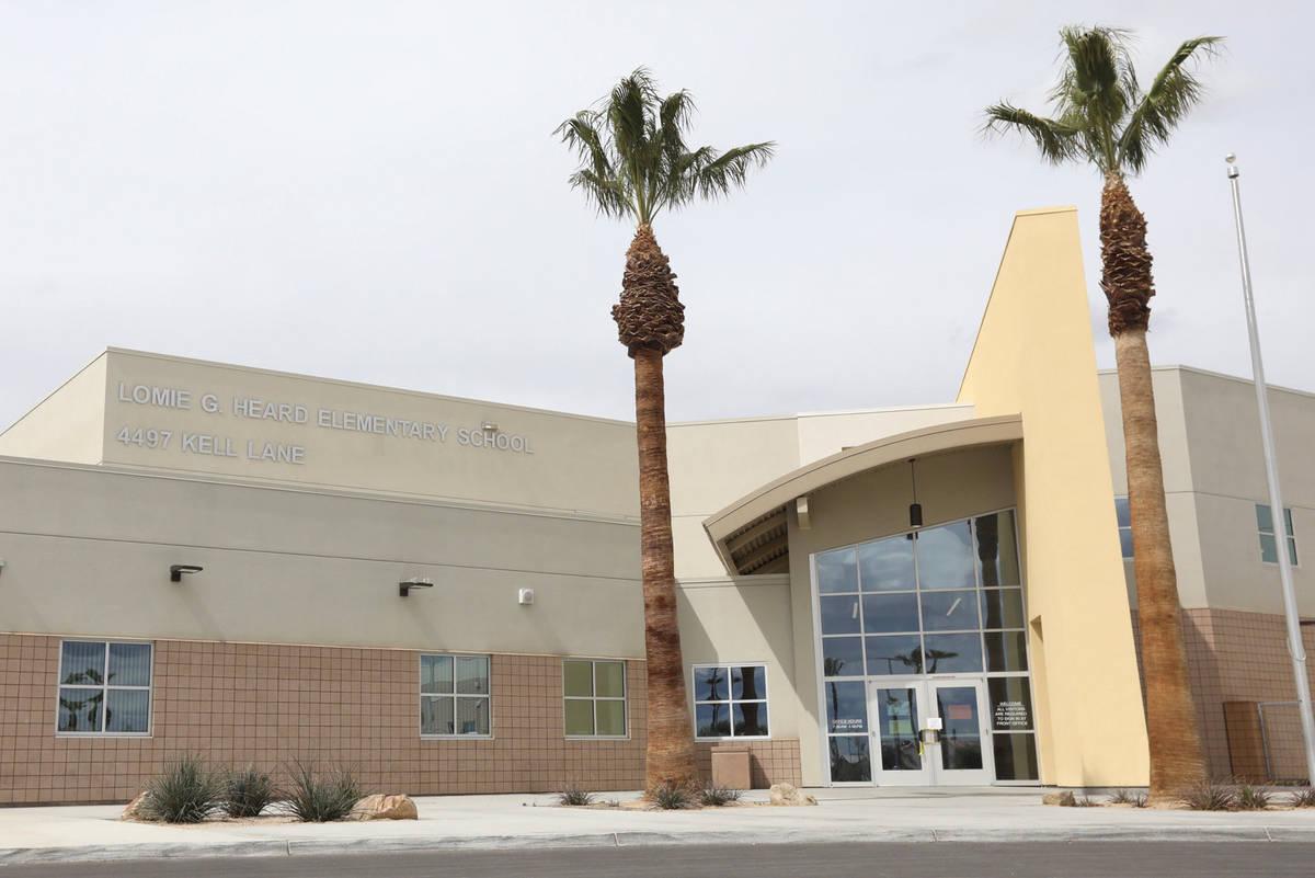 Lomie G. Heard Elementary School in Las Vegas pictured on Thursday, March 19, 2020. (Ellen Schm ...